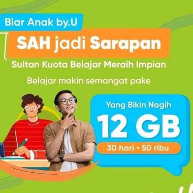 harga 14 GB Kartu Perdana byU Telkomsel 14 GB 30 hari Blibli.com