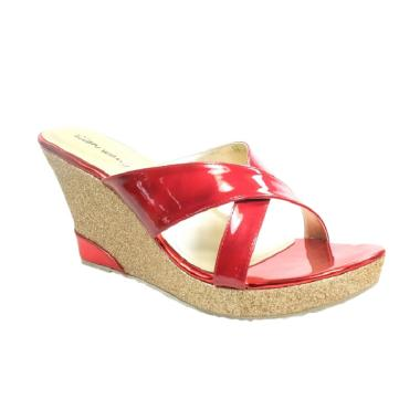 Ellen Wang Shoes Adora Wedges - Merah