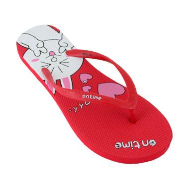 Ontime Usagi Sandal Jepit Wanita - Red
