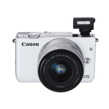 Canon EOS M10 Kit EF-M 15-45mm + EF-M 22mm [White]