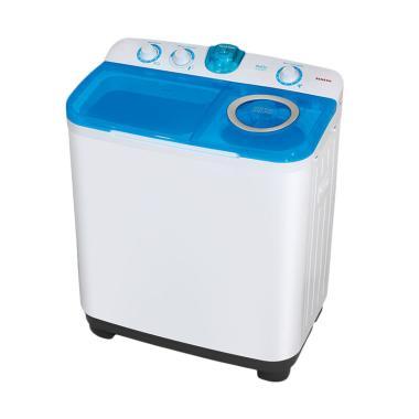 Sanken TW-9880 Mesin Cuci - Biru [2 Tabung/8 kg]