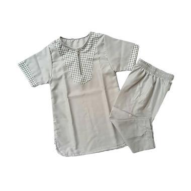 LANIEA Turki Kotak Kecil Set Baju Koko Anak - Grey
