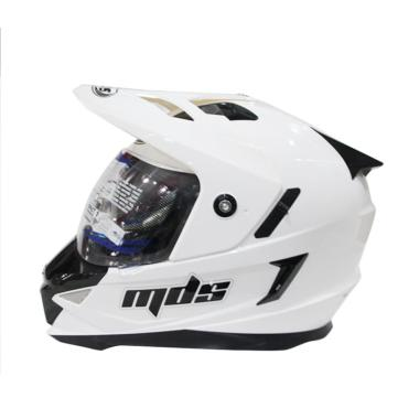 MDS Super Pro Helm Cross - Solid White