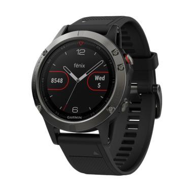 Garmin Fenix 5 Smartwatch with Black Band - Slate Gray
