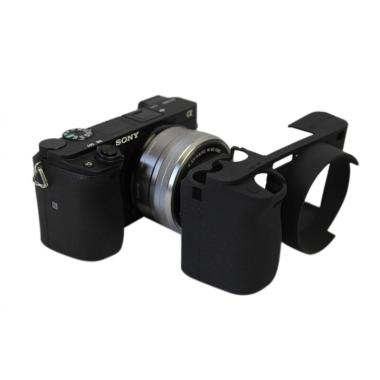 OEM Silicone Rubber Case for Sony A6000 - Hitam