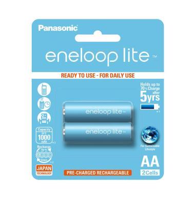 Panasonic Eneloop Lite AA 2S Baterai [BK-3LCCE-2BT]