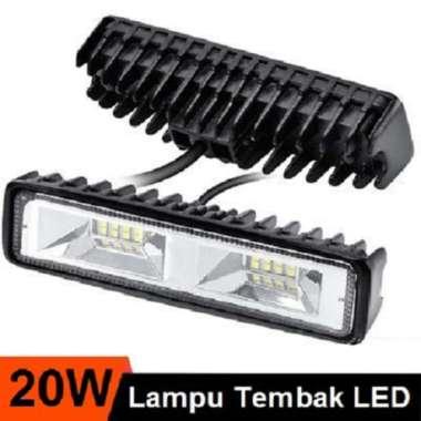 harga Lampu Tembak Sorot LED Bar Cree 16 Titik Mata CWL 20 Watt 20W Worklight 20Watt offroad Motor Mobil Putih Blibli.com