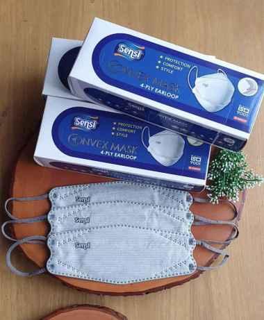harga Masker SENSI CONVEX Mask 4ply Evo Plusmed Earloop Isi 20 Pcs Nyaman Dipakai Dan Ringan ABU-ABU [ GREY ] Blibli.com