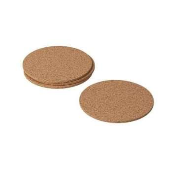 harga IKAvskild 4Pcs Tatakan Gelas Cangkir Bahan Gabus 10Cm Cork Coaster coklat Blibli.com