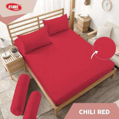 harga Kintakun Sprei Dluxe King Size 180X200cm TINGGI 30 cm - Chili red multicolor 180 x 200 Blibli.com