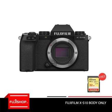 harga Fujifilm XS10 X-S10 Fuji XS10 X-S10 Body Only Kamera Mirrorless + Sandisk Extreme 32GB Garansi Resmi Blibli.com