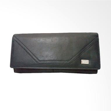 I.L.C Dompet Wanita Genuine Leather Full Kulit Asli  -Hitam