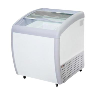 GEA SD160BY Sliding Curve Glass Freezer [160L]