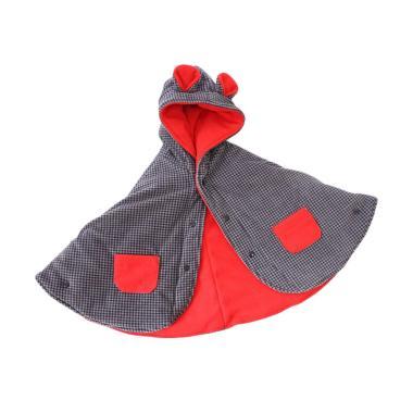 Bibbo.in Babycape Bibbo Red Tartan Jaket Selimut Bayi