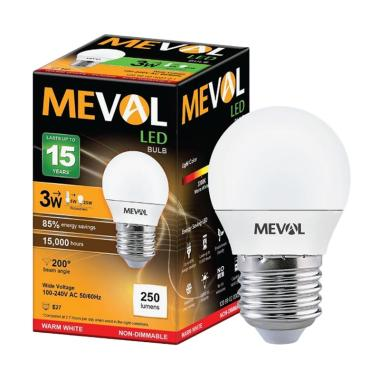 Meval Advance LED Bohlam Lampu - Kuning [3 W]