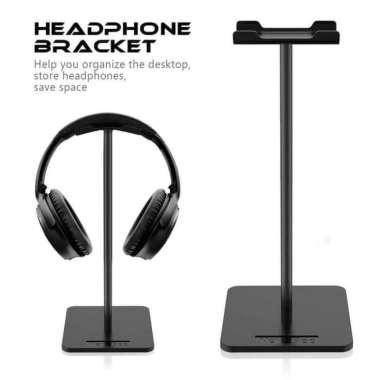harga Jual NEW BEE Universal Gaming Studio Headphone Stand Hanger Bracket Diskon Baru Blibli.com