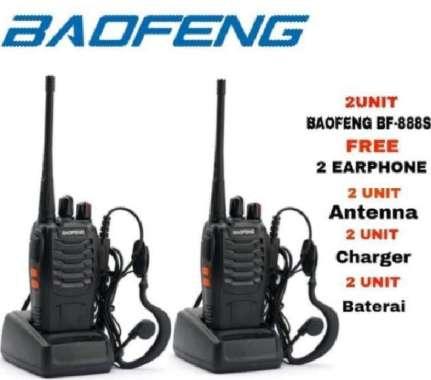 harga Promo Paket 2 Unit Baofeng 888s Radio HT Handy Talky / Walkie talkie hitam Blibli.com