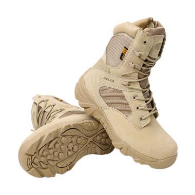 Delta Cordura Combat Sepatu High Boots - Desert Army