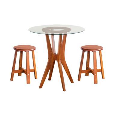 Oscar Furniture Meja Makan Bulat Fo ...  Fogia Dining Set - Cocoa