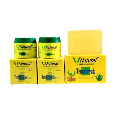 Paket Cream Temulawak V Natural Siang & Malam with Sabun