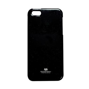 Mercury Jelly Softcase Casing for iPhone 5 - Black 22bddef6ea
