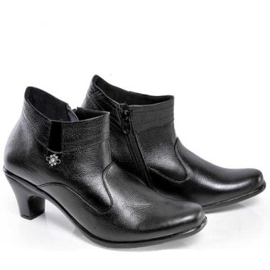 Spiccato A545 Fashionable Women Casual Boots Kulit - Hitam