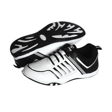 RecordShoes Cupertino Black Sepatu Badminton - White