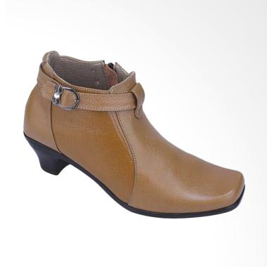 Catenzo A218 Fashionable Women Handmade Leather Boots - Brown
