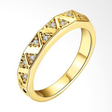 Bella & Co Ring KZCR024-A-7 Aksesoris Cincin Lapis Emas