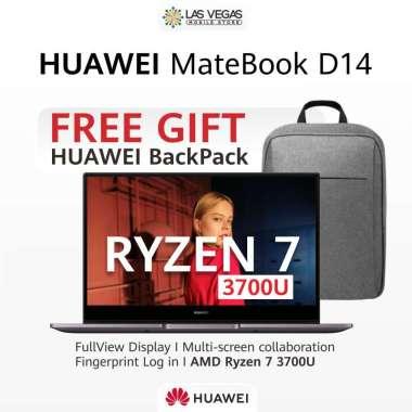 Huawei D 14 MateBook [AMD Ryzen 7 3700U/ 8GB DDR4/ 512GB/ 14 Inch/ FREE GIFT]
