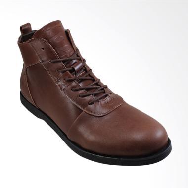 Sauqi Footwear Brodo Sperry Kulit Asli Sepatu Pria - Coklat