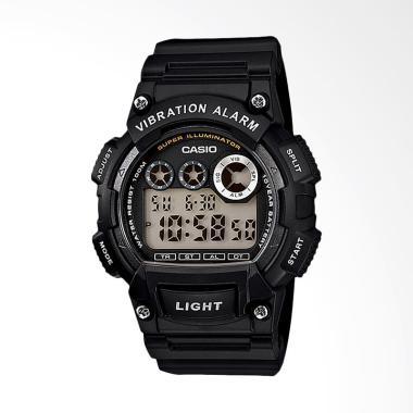 CASIO W-735H-1AVDF Standard Vibration Alarm Jam Tangan Wanita - Black