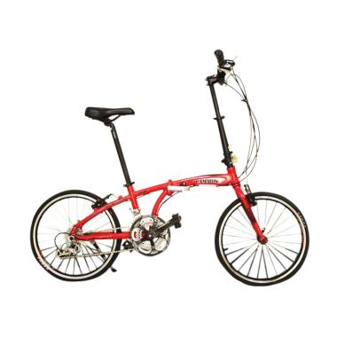 Vivacycle Camaro Alloy Folding Sepeda - Red