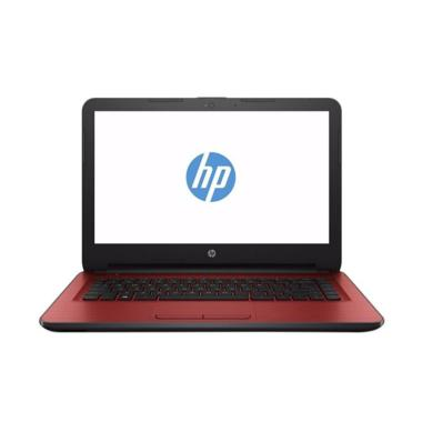 HP 14-BW018AU Notebook - Red [AMD A9-9420/ 4GB/ DOS]