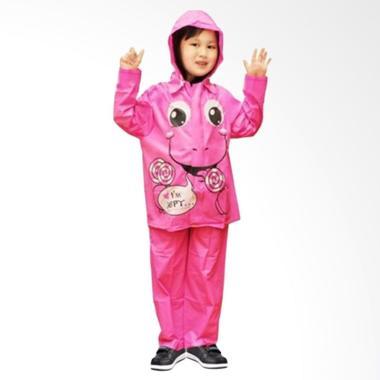 Indoplast Kido Setelan Jas Hujan Anak - Pink