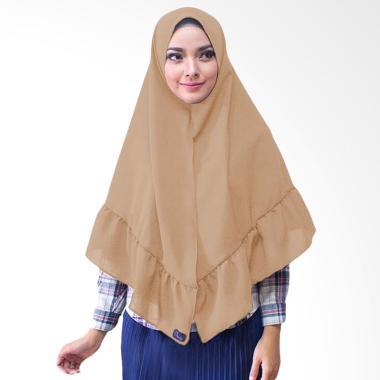 Milyarda Hijab Khimar Aisyah Hijab Instan - Coklat Susu