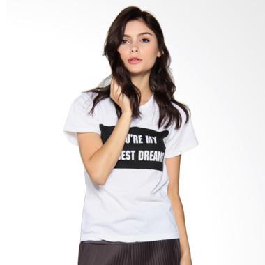 JCLOTHES Tumblr Tee Branded Wildest Dreams Kaos Wanita - Putih