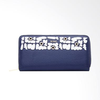 Bonia The Wall Zipper Wallet - Dark Blue