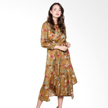 Papercut Fashion GZ Yomi 8028 Retro ... h Tie Long Dress - Yellow