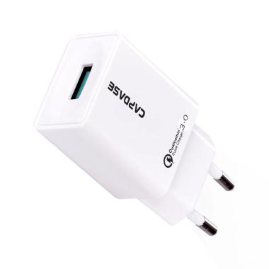 Capdase TM 3.0 Raptor & Micro USB to USB Cable Quick Charger - White
