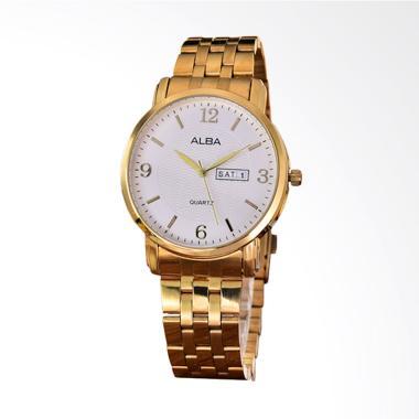 Alba Stainless Stell Band White Dia ... ld AB-RT-5536G-TH-GW-GOLD
