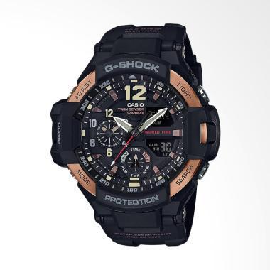 CASIO G-Shock Gravitymaster Jam Tan ... Black Gold GA-1100RG-1ADR