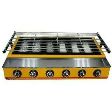 harga GETRA ET-K233 Alat Panggang 6 tungku (6 burner BBQ - GAS) MULTICOLOR Blibli.com