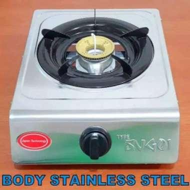 harga Premium Kompor Gas Stainless Steel SNI 1 Tungku SUGOI - Burner Kuningan Diskon Blibli.com