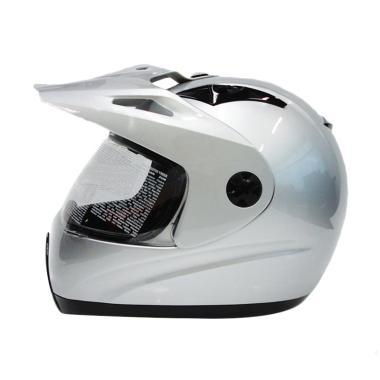 Zeus Supermoto ZS-2100 Helm Full Face - Silver