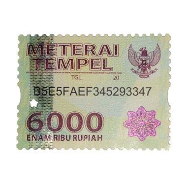 harga Materai Tempel Resmi [Rp. 6.000] Blibli.com