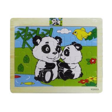 MOMO Animal Panda Kayu Mainan Puzzle