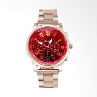 Geneva Fashion Stainless Steel Jam Tangan Pria dan Wanita - Merah