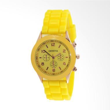 Geneva Fashion Rubber Jam Tangan Wanita - Kuning