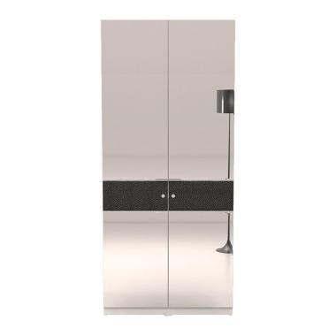 Prissilia Miami 2D Glassdoor Lemari Pakaian